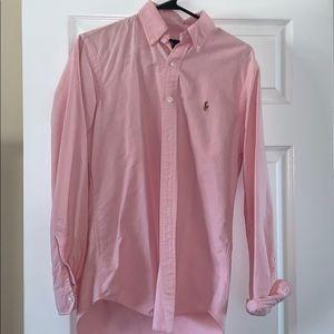 Pink Long Sleeve Men's Button Down Shirt